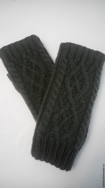 перчатки без пальцев мужские вязаные схемы
