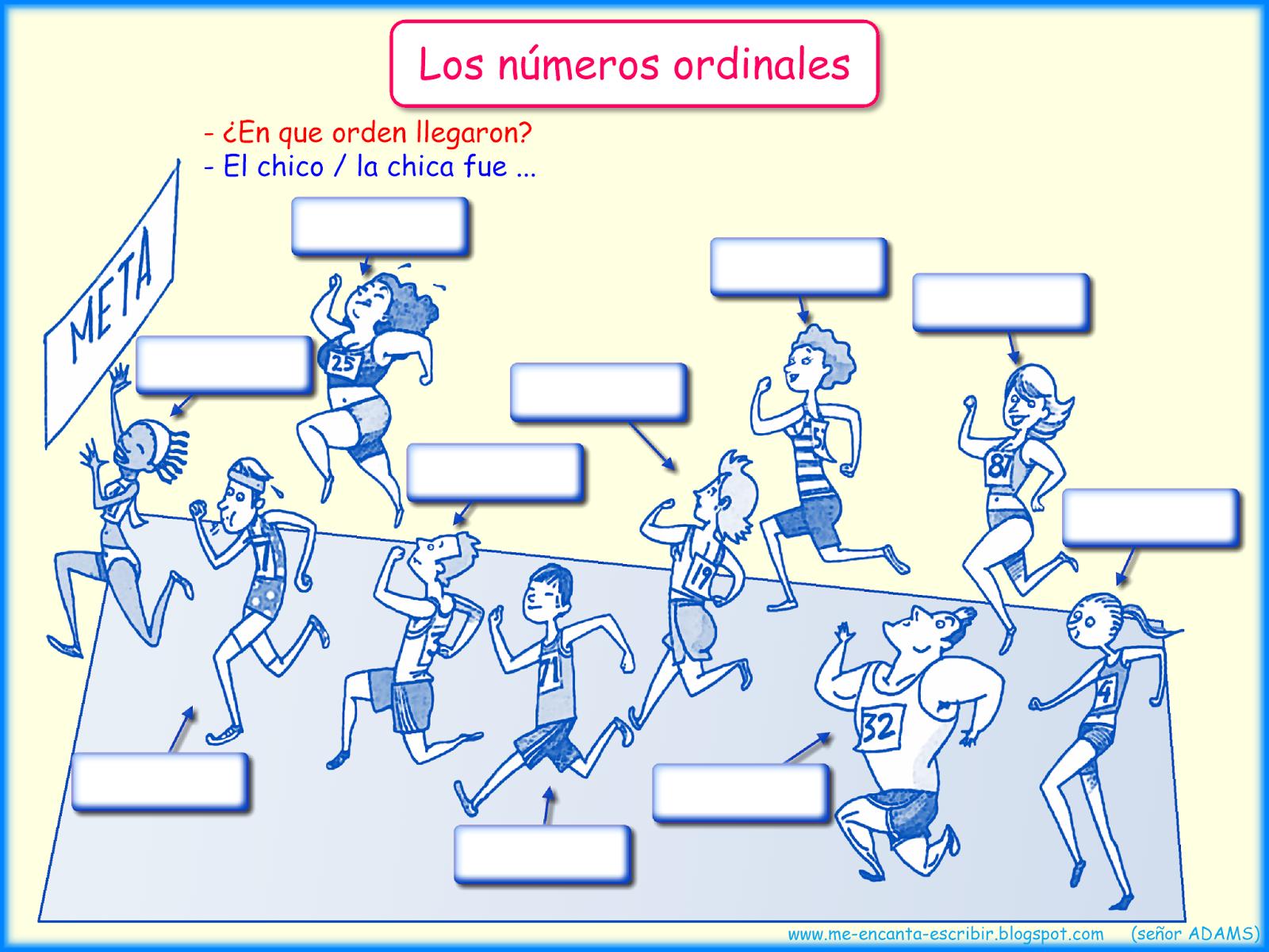 Los Numeros Ordinales
