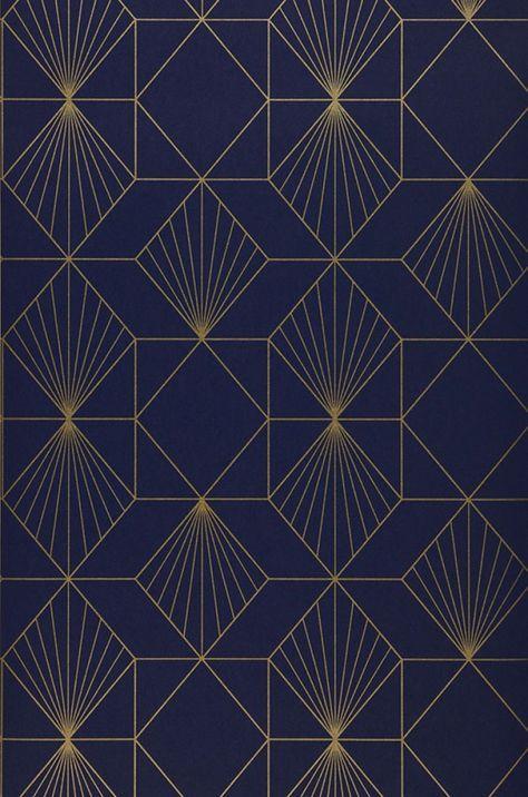 maurus papier pinterest papier peint g om trique papier peint intiss et bleu nuit. Black Bedroom Furniture Sets. Home Design Ideas