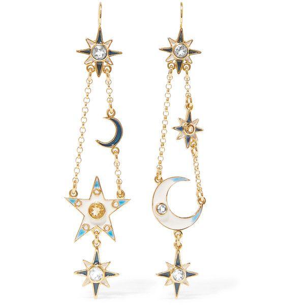 Percossi Papi Gold-plated Multi-stone Earrings QGbK9yoz