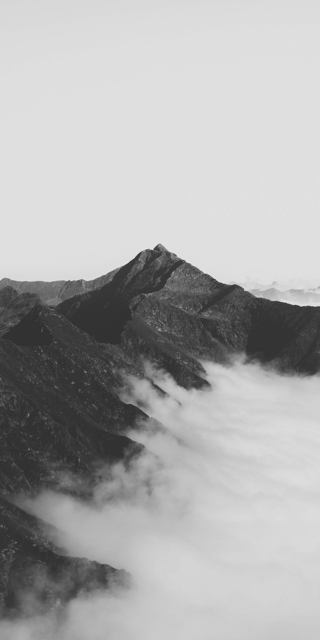 Wallpaper Mountain Black White Clouds Black And White Landscape Black And White Clouds Cloud Wallpaper