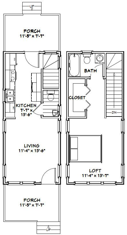 12x28 Tiny House 12x28h2a 589 Sq Ft Excellent Floor Plans Tiny House Floor Plans Tiny House Plans Small House Plans