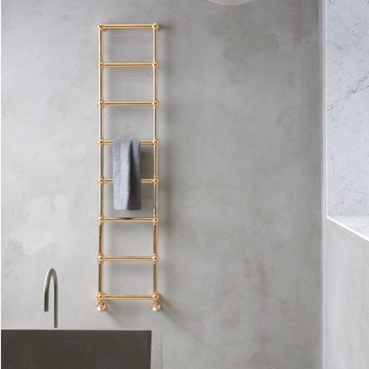 Caesar Modular Towel Warmer Consisting Of Round Pipes And Connection Spheres Minimalism Caleido Design Int In 2020 Ladder Decor Towel Warmer Bathroom Design
