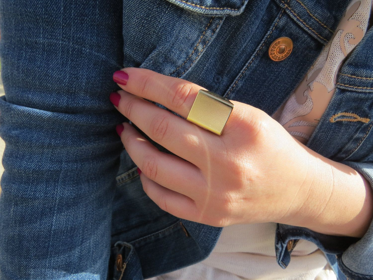 Gold Ring - Wide band ring,