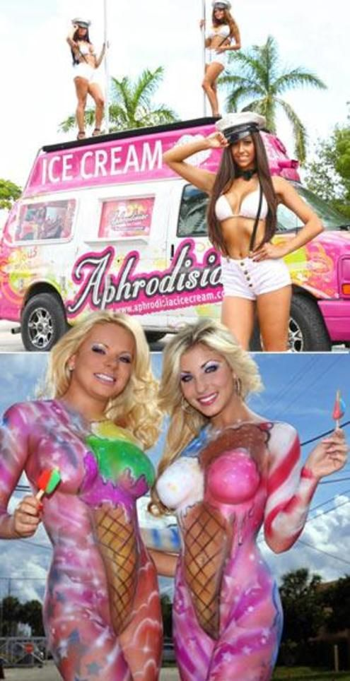 Ice Cream Truck Girls Body Paint