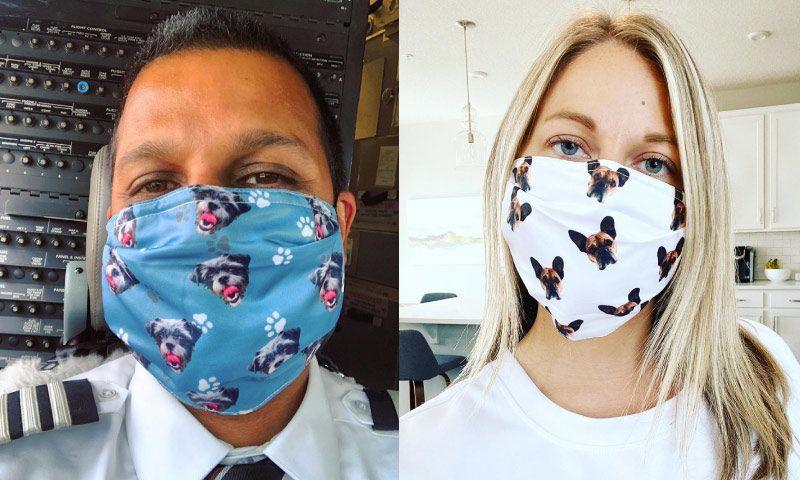 Custom Pet Print Facemask Cuddle Clones in 2020 Pets