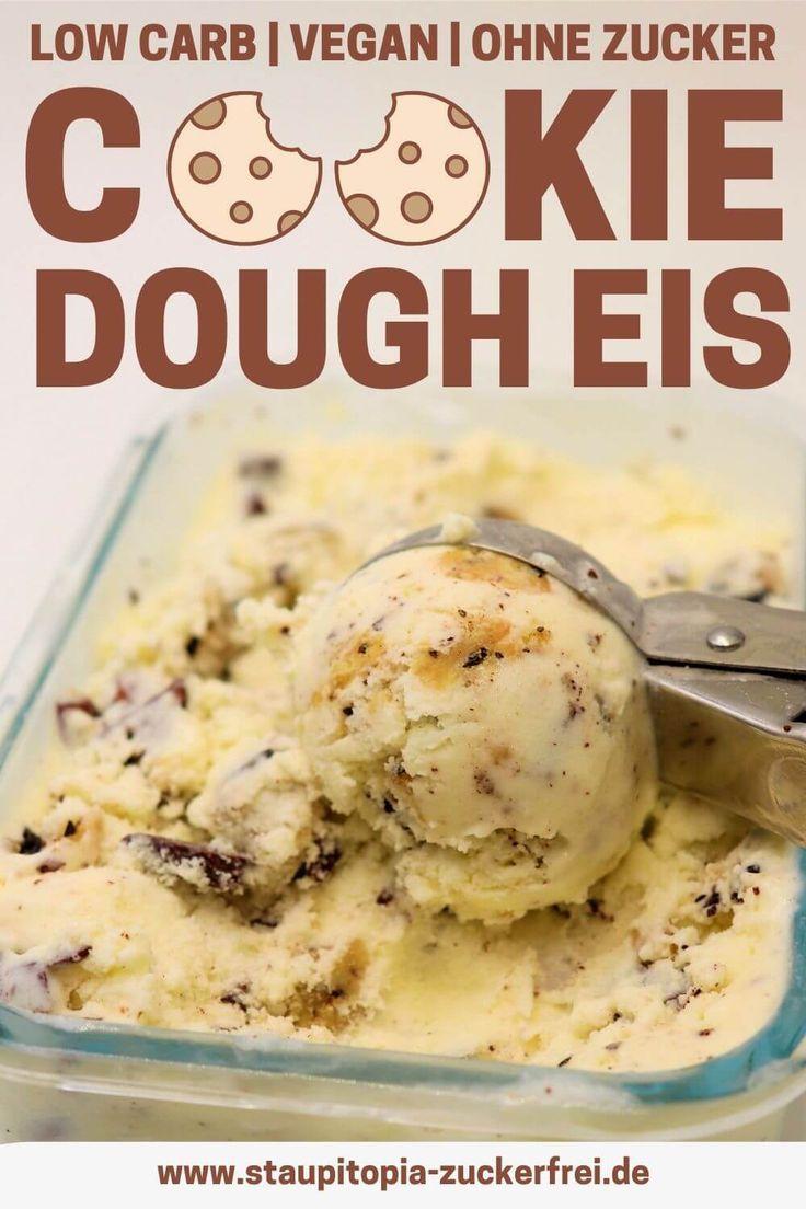 Cookie Dough Eis ohne Zucker - Staupitopia Zuckerfrei