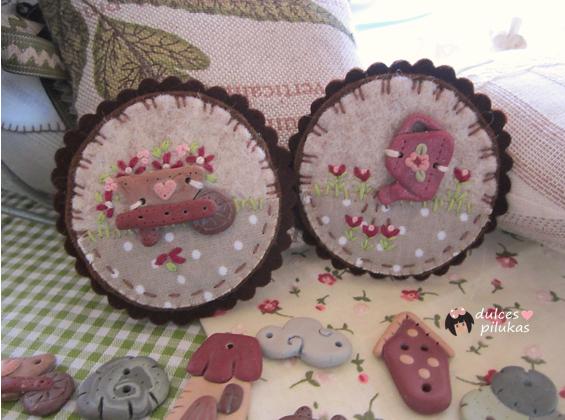 dulces pilukas: Botones arcilla Garden