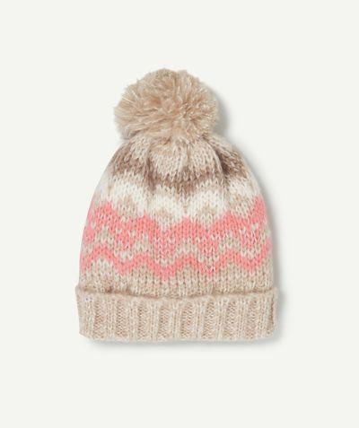 1a2a618fd8a LE BONNET HARVINA   Bonnet en tricot pour protéger la tête des petites  filles cet hiver