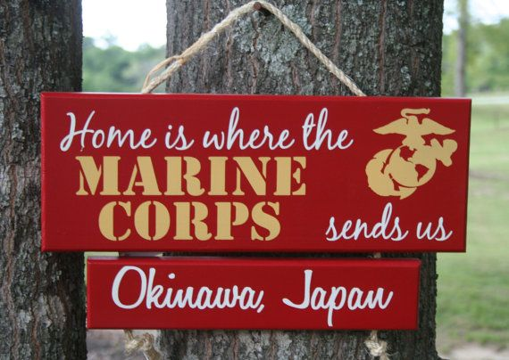 ONE Bar Any Branch Home is where the Army, Navy, Air Force, Marine Corps, Coast Guard sends us Military Family Sign