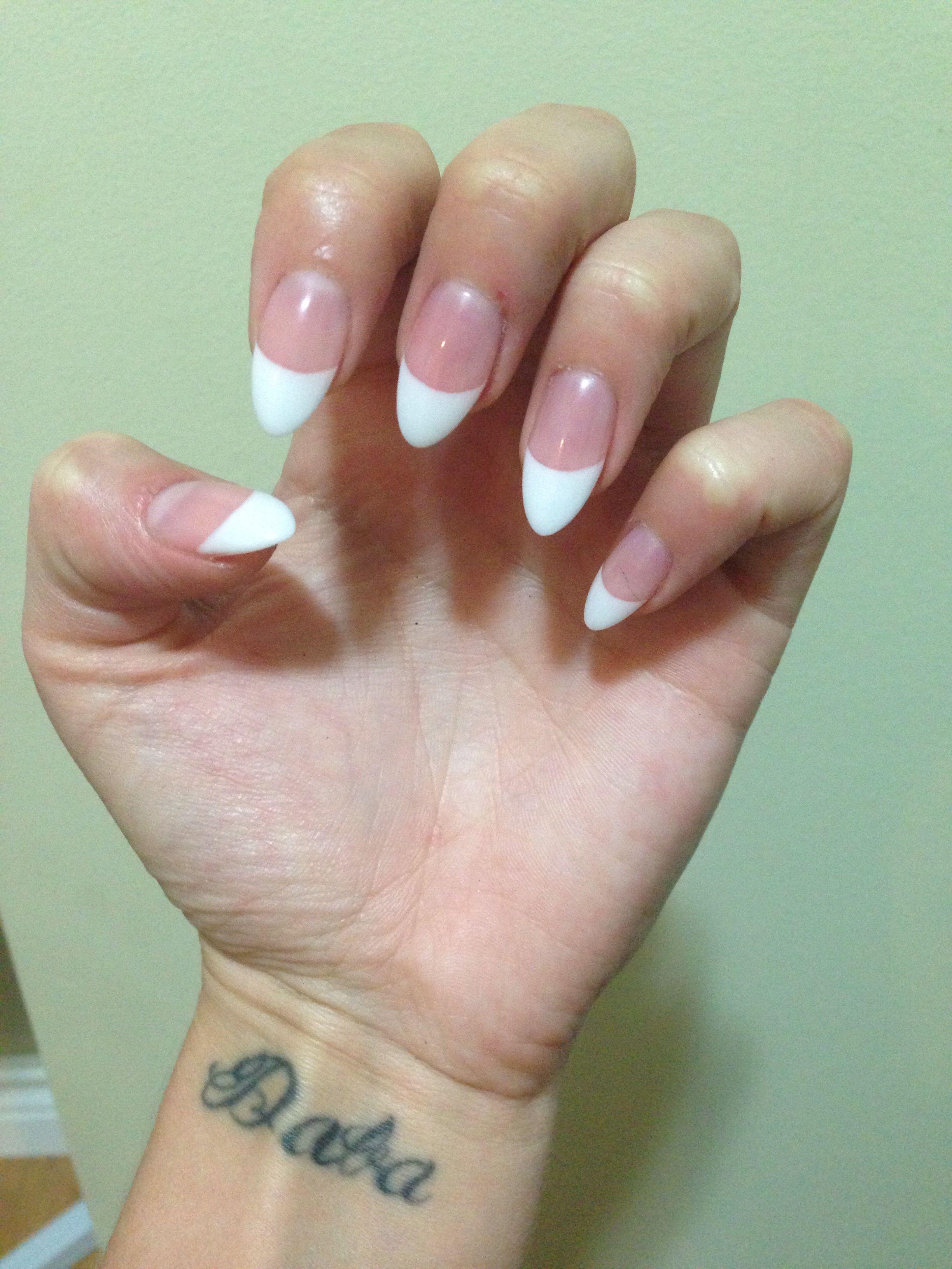 Acrylic stiletto nails !