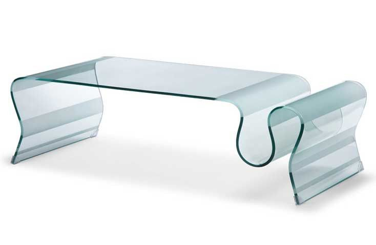 Magazine Glass Coffee Table