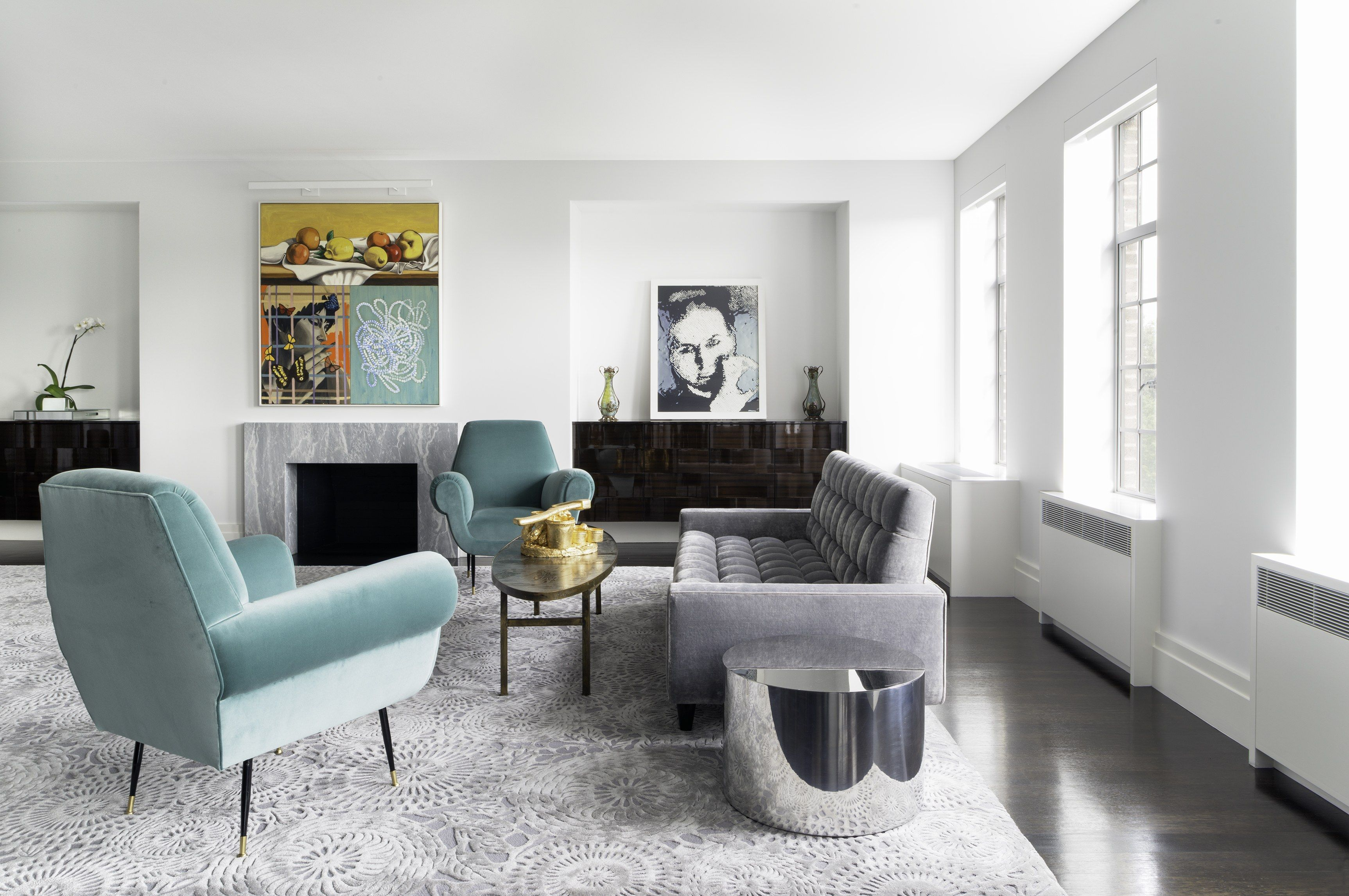 Modern blue and grey living room living room design ideas 5 modern homes by new york architecture firm deborah berke partners photos architectural
