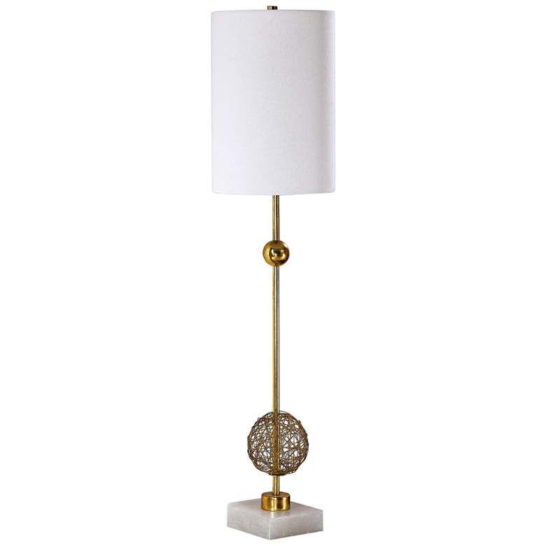 Uttermost Breckyn Metallic Antique Gold, Gold Buffet Table Lamps