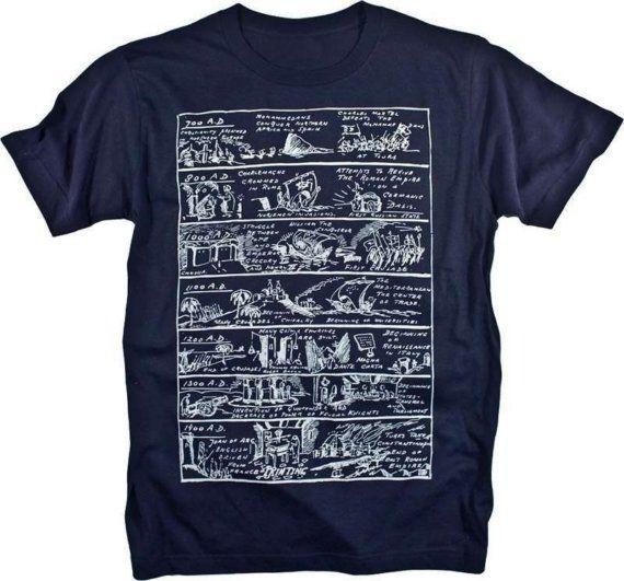History of the Renaissance via illustration on a T-shirt. Fun!