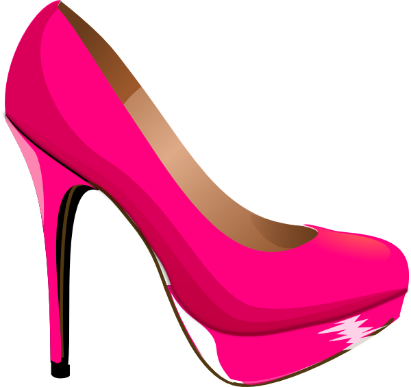 kids pink heels clip art pink highheal shoe clip art vector clip rh pinterest com shoe clip art free show clip art image of black old people