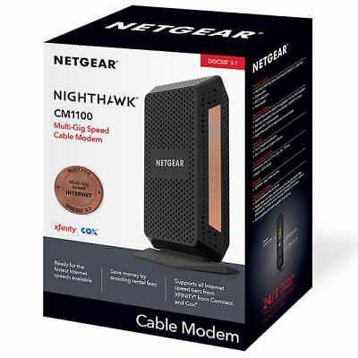 Nighthawk MultiGig Speed Cable Modem by NETGEAR supports