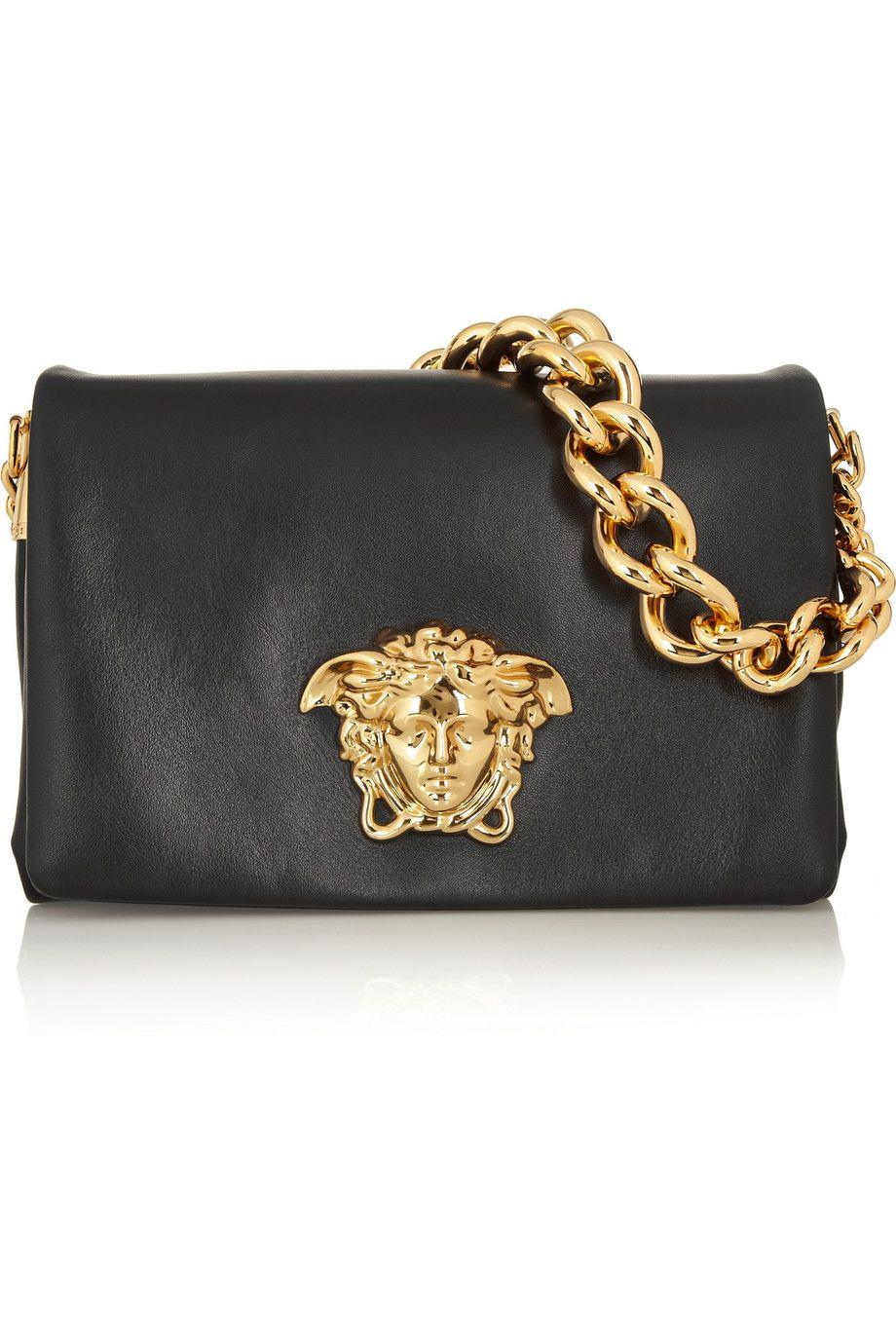 Versace Leather Shoulder Bag Net A