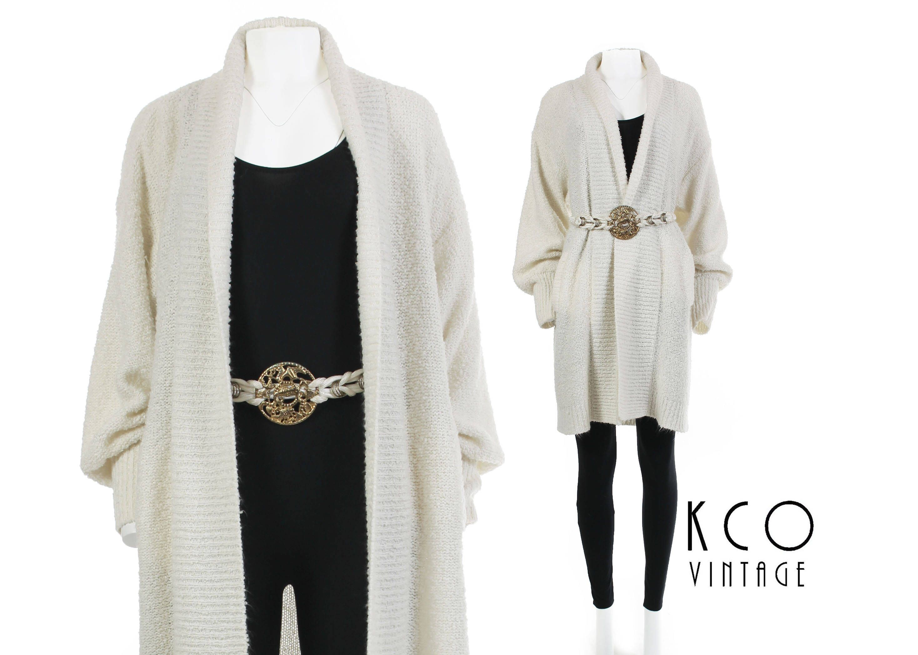 White Duster Sweater Long Cardigan Sweater Jacket Duster Cardigan ...