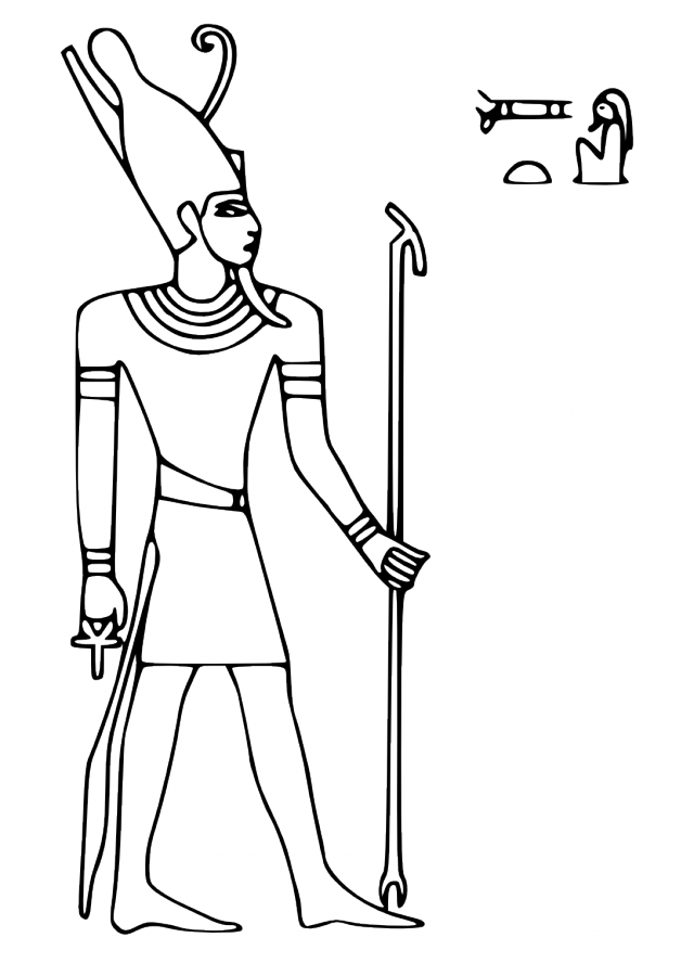 Pharaoh Coloring Pages Egyptian God Egyptian Gods Coloring ...