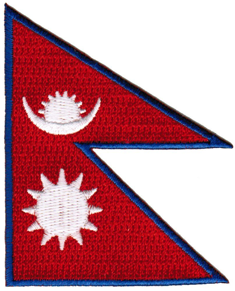 Nepal Flag Embroidered Patch Nepali Nepalese Sherpa Iron-On National Emblem at Amazon Women's Clothing store: Apparel Accessories