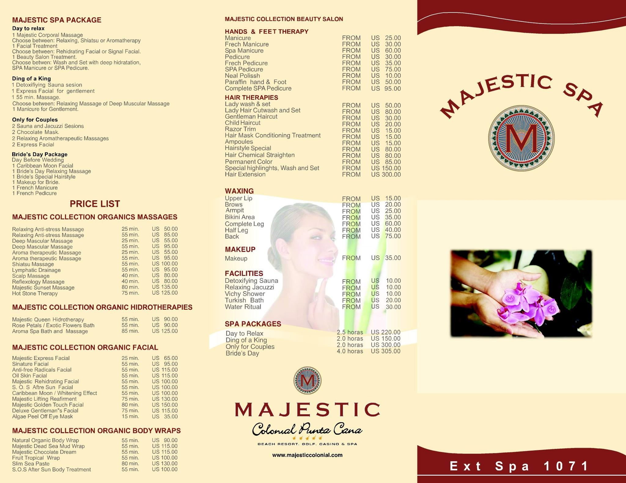 Majestic Colonial Spa Brochure Destination Wedding