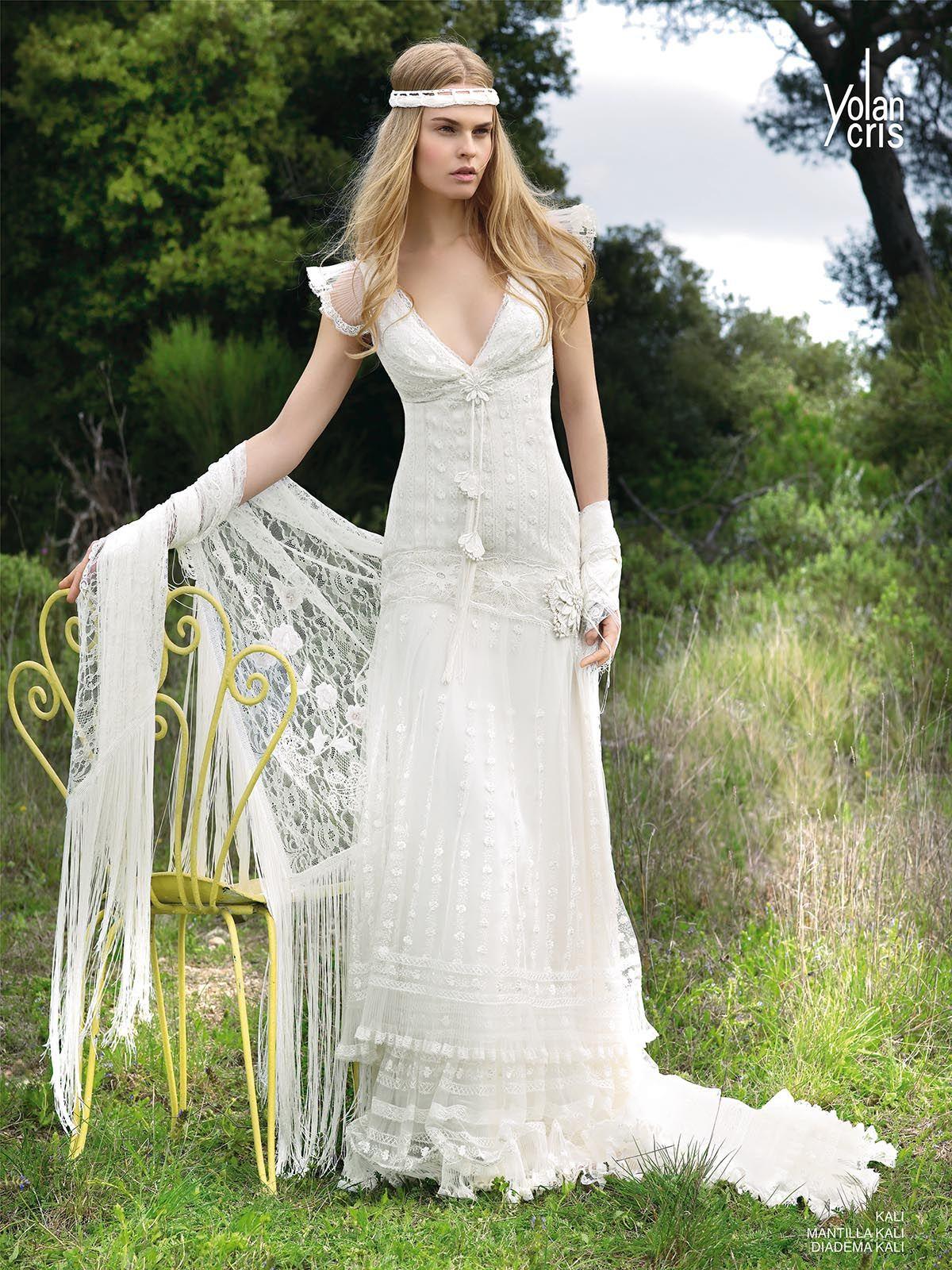 Thème hippy hippie robe de mariée