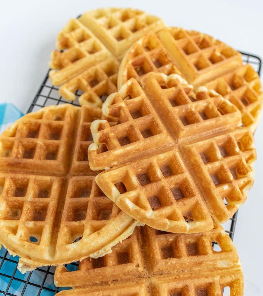 Extra Light And Fluffy Homemade Waffles How To Make Fluffy Waffles Recipe Homemade Waffles Waffle Recipes Christine S Recipe