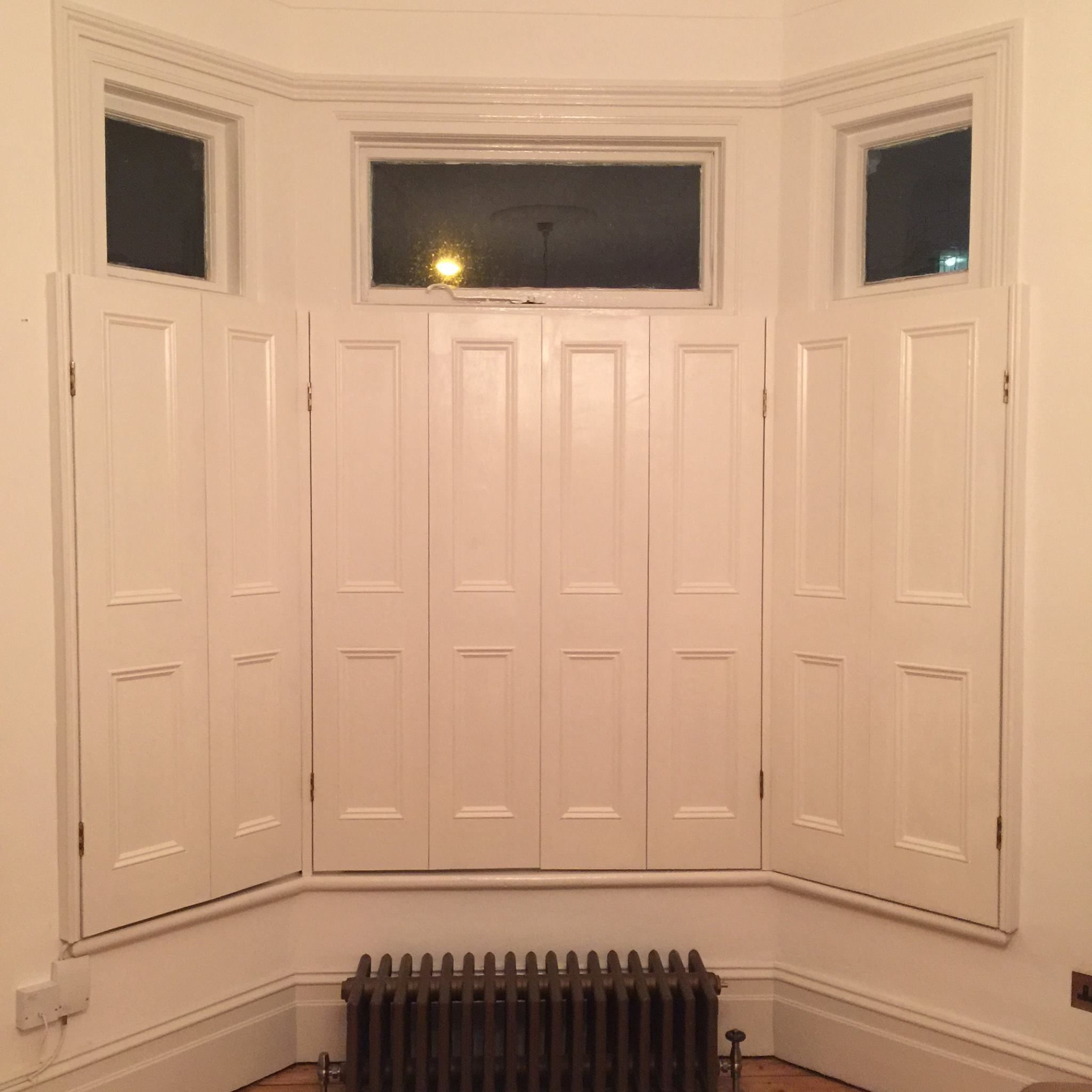 Reclaimed Wood Victorian 3 4 Shutters Primed And Painted