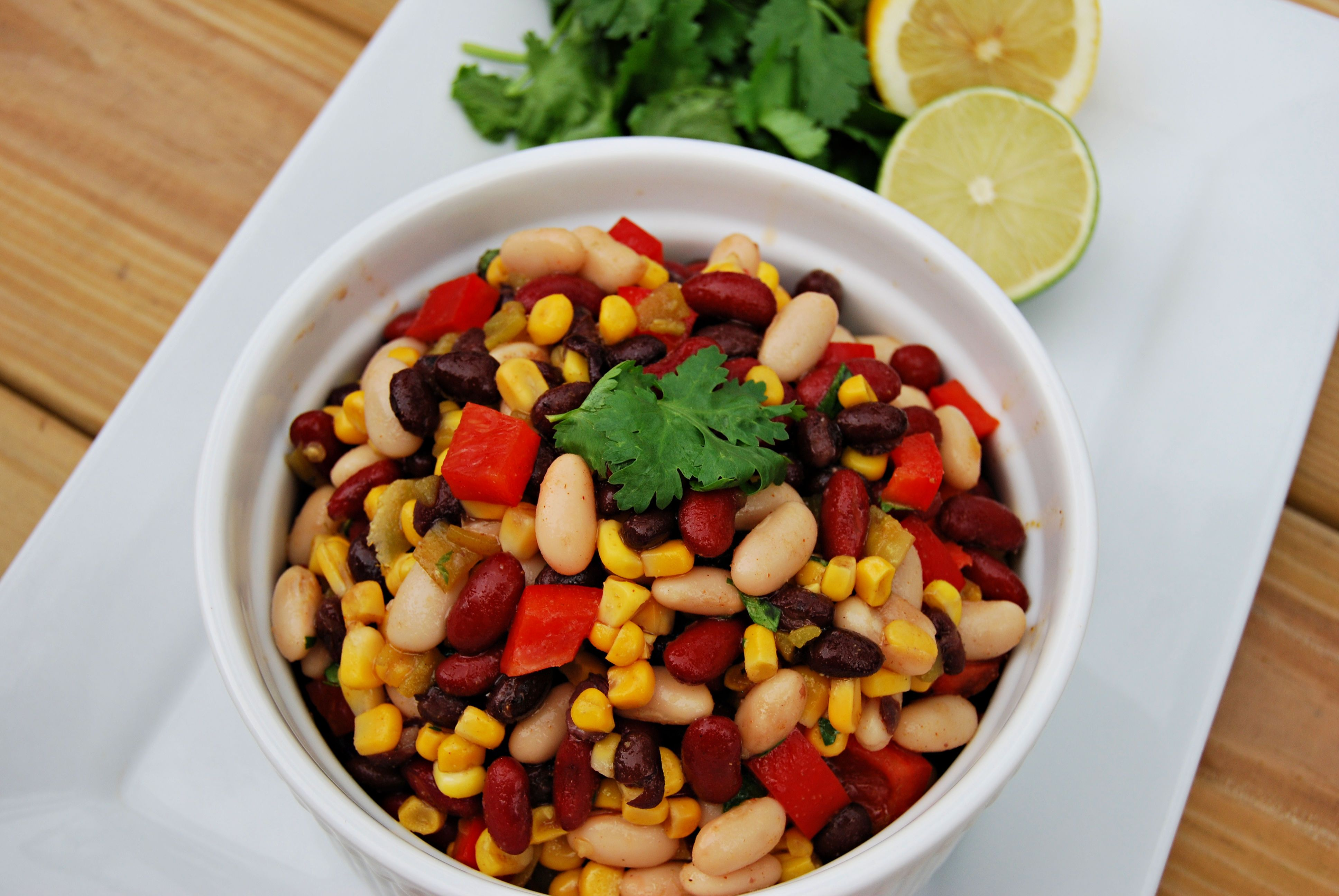 3 Bean Salad Is The Tex Mex Side We Can T Stop Making And Eating In 2020 Main Dish Salad Recipes Bean Salad Recipes Bean Salad