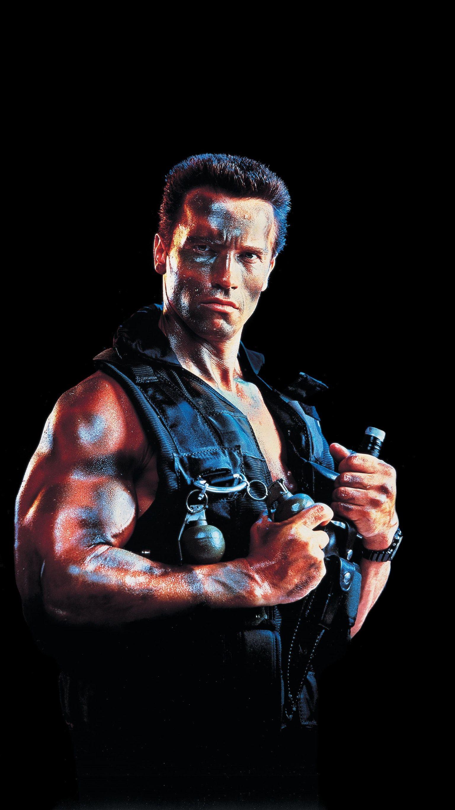 Commando 1985 Phone Wallpaper Moviemania Arnold Schwarzenegger Schwarzenegger Sylvester Stallone