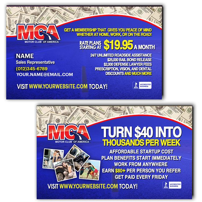MCA Business Card Template http//partnerwithshanec.ga