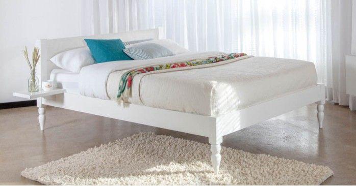 White Knight Bed Turned Leg Option Wooden Bed Frames Wooden