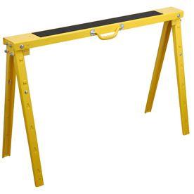 Blue Hawk Folding Steel Adjustable Sawhorse Mesas De Metal Herramientas De Carpinteria Taller En El Garaje