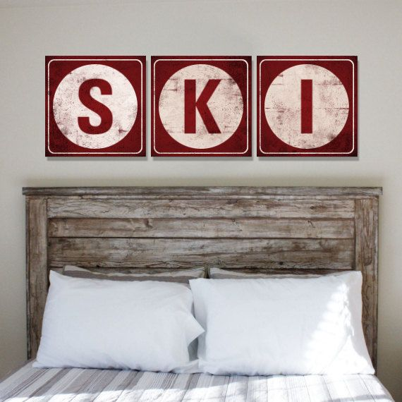 Ski Chalet Decorating Ideas: Life Is Better On The Slopes, Handcrafted Rustic Wood Sign