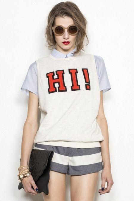 Sleeveless sweatshirt: LagunaMoon Hiロゴノースリーブスエット(2月中旬) - shopstyle.co.jp