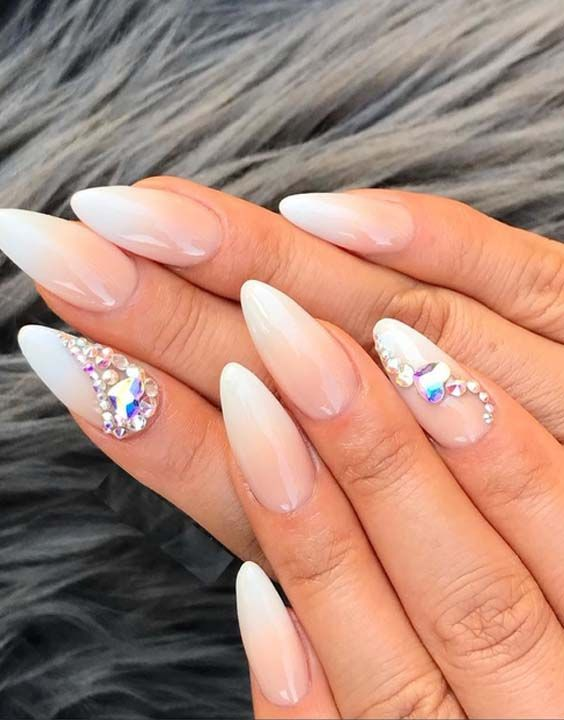 30 Cutest Nude Ombre Nail Art Designs for Women in 2018 | Nails and ...