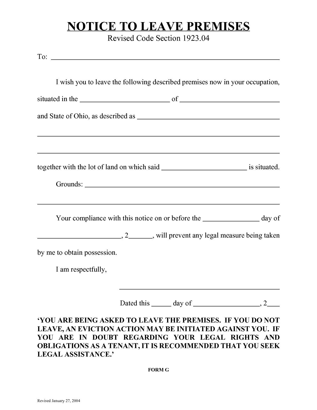 30 Free Printable Eviction Notice Template In 2020 With Images