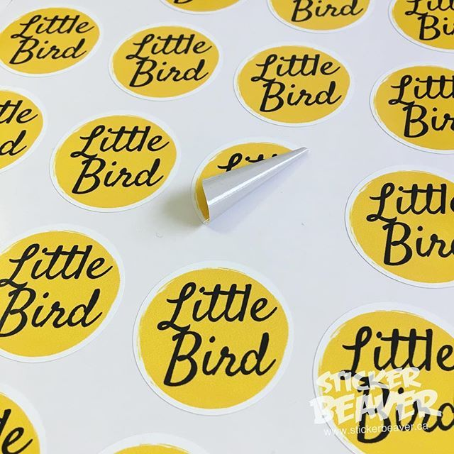 Custom stickers for little bird macarons make sure to check them out macarons