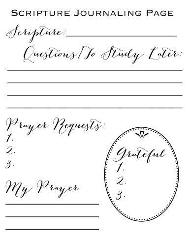 Scripture Journaling Page Free Printable Scripture Journaling Prayer Journal Printable Bible Study Journal