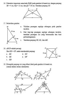 Pembahasan Uji Kompetensi 4 Halaman 266 Matematika Kelas 9 Kesebangunan Dan Kongkruen Di 2021 Matematika Halaman