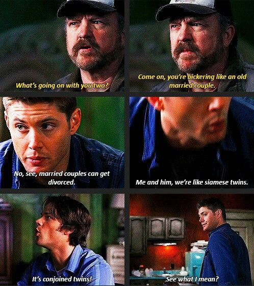 Dean And Sam And Their Bickering Supernatural With Images