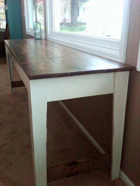 Love These Tall And Narrow Tables Narrow Dining Tables Tall Dining Room Table Kitchen Remodel Small