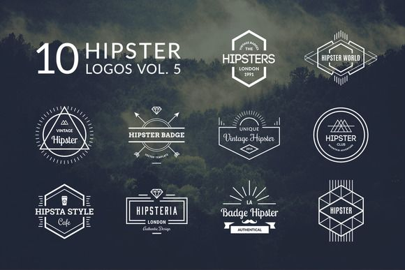 10 hipster logos vol 5 logos graphic design pinterest logo