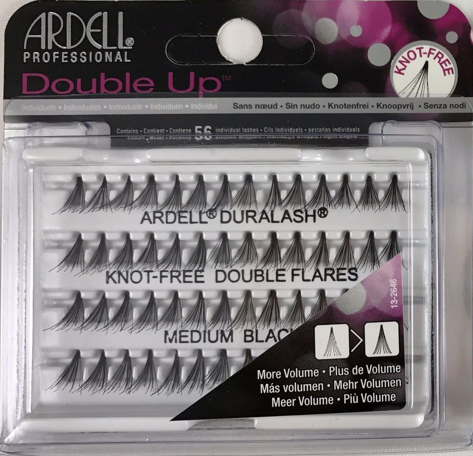 4ca3785ff36 Ardell Duralash Double Individuals Knot-Free Medium Black (56 Lashes) 61485