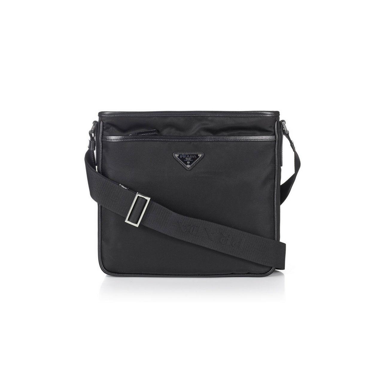 4be8a053 get mens prada messenger bag black 50c20 a5c3d