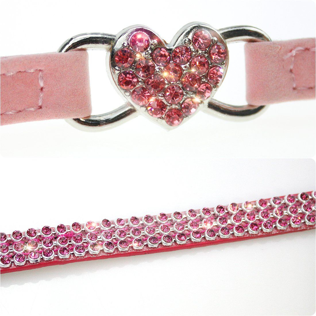 2Pcs Breakaway Bling Cat Collars with Bell and Pet Collar