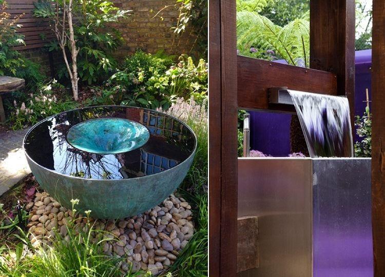 Fontaine de jardin et cascade de design moderne