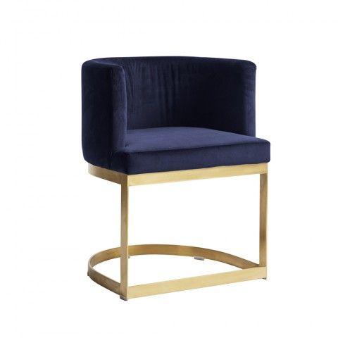Krzeslo Gold Lounge Blue Lounge Stuhl Stuhle Polsterstuhl