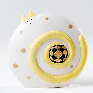 White Cat Ornament inspired by the vibrant work of the late Govinder Nazran.